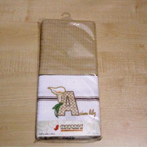 Вафельное полотенце кухонное 2шт ТМ Mariposa 024 лилия 45×70 (2 шт)