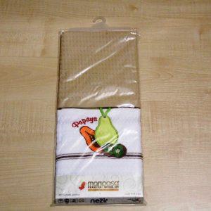 Вафельное полотенце кухонное 2шт ТМ Mariposa 024 папайа 45×70 (2 шт)