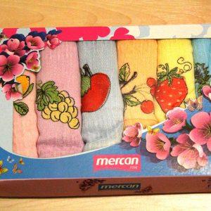 Вафельное полотенце кухонное 6шт Mercan ягодки 45×65 (6 шт)