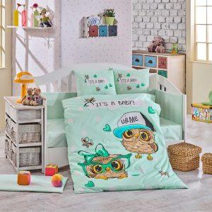 купить Детское Постельное Белье Hobby Cool Baby Ментоловый 100x150