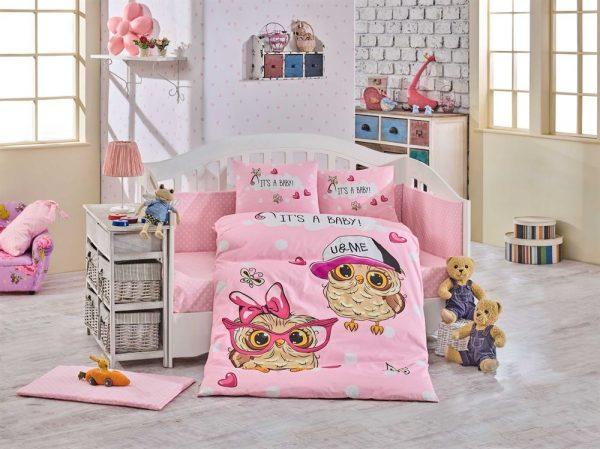 Детское Постельное Белье Hobby Cool Baby Розовый 100×150