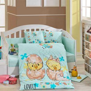 купить Детское Постельное Белье Hobby Lovely Голубой 100x150