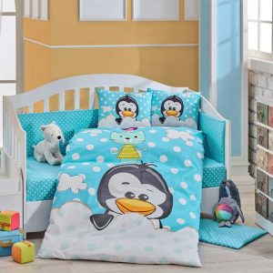 купить Детское Постельное Белье Hobby Penguin Голубой 100x150