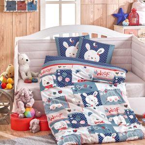 купить Детское Постельное Белье Hobby Snoopy Голубой 100x150