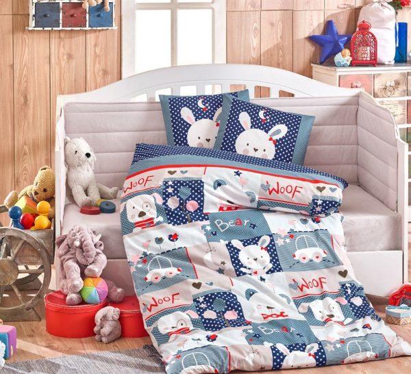 Детское Постельное Белье Hobby Snoopy Голубой 100×150