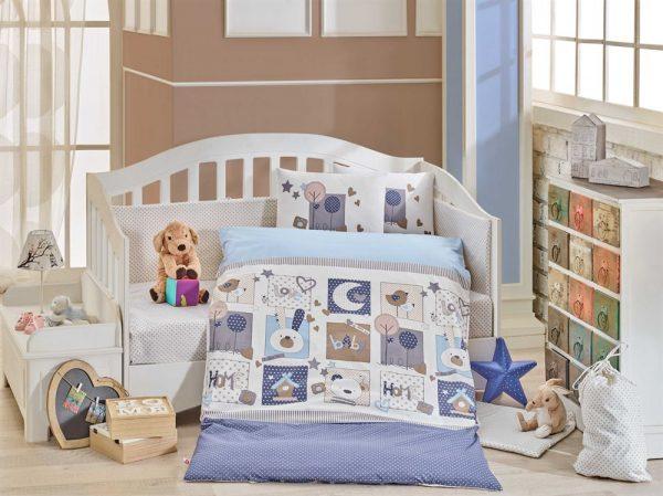 купить Детское Постельное Белье Hobby Sweet Home Голубой 100x150