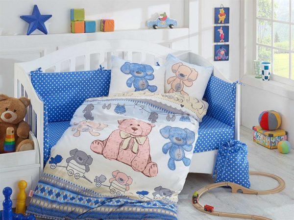 купить Детское Постельное Белье Hobby Tombik Голубой 100x150