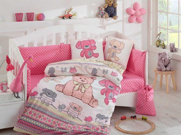 купить Детское Постельное Белье Hobby Tombik Розовый 100x150