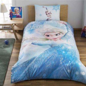 Детское подростковое постельное белье ТМ TAC Disney Frozen Glitter 160×220