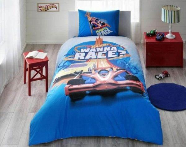 купить Детское подростковое постельное белье ТМ TAC Disney Hot Wheels Race 160x220