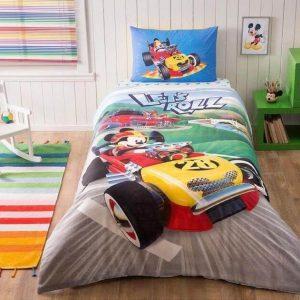 Детское подростковое постельное белье ТМ TAC Mickey Racer 160×220