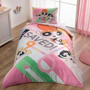 Детское подростковое постельное белье ТМ TAC Power Puff Girls 160×220