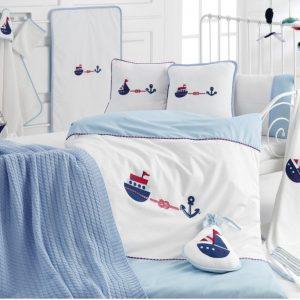 Детское постельное белье в кроватку для младенцев Irya – Marine (16 предметов) 100×150