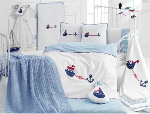 купить Детское постельное белье в кроватку для младенцев Irya - Marine (16 предметов) 100x150