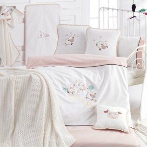 Детское постельное белье в кроватку для младенцев Irya – Sleep (16 предметов) 100×150