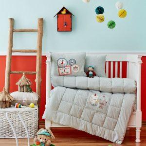 Детское постельное белье в кроватку для младенцев Karaca Home – Pancake 2018-2 su yesil (4 предмета) 100×150