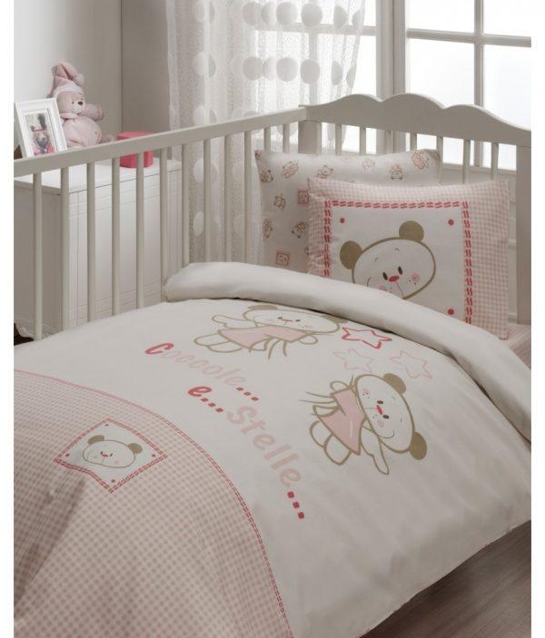 купить Детское постельное белье в кроватку для младенцев Karaca Home - Stella (7 предметов) 100x170