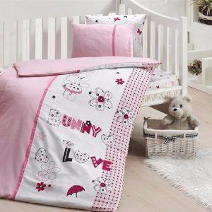 купить Детское постельное белье в кроватку First Сhoice Love Bunny 100x150