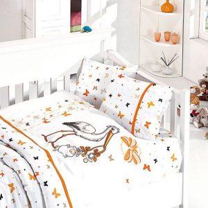 купить Детское постельное белье в кроватку First Сhoice Stork Orange 100x150
