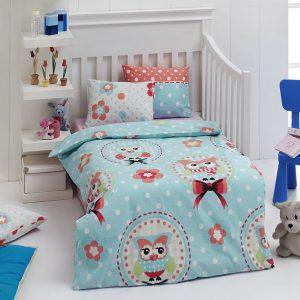 купить Детское постельное белье для младенцев Eponj Home - Baykus A.mavi 100x150