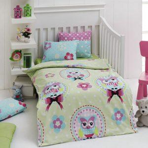 Детское постельное белье для младенцев Eponj Home – Baykus Yesil 100×150