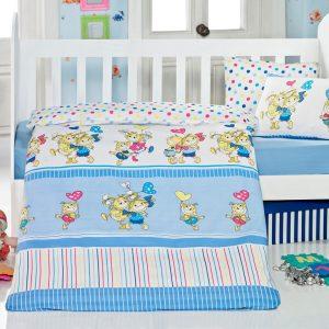 Детское постельное белье для младенцев Eponj Home – Pitircik Mavi 100×150