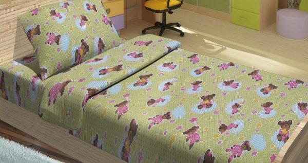 купить Детское постельное белье для младенцев Lotus - BoBi зеленый 100x150