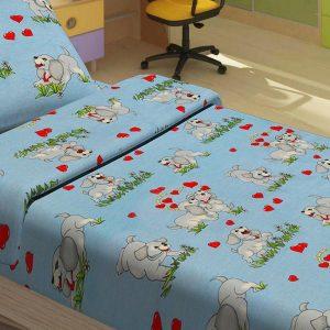 Детское постельное белье для младенцев Lotus – DoGi голубой 100×150