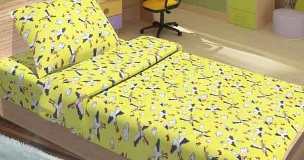 купить Детское постельное белье для младенцев Lotus - PeTi желтый 100x150