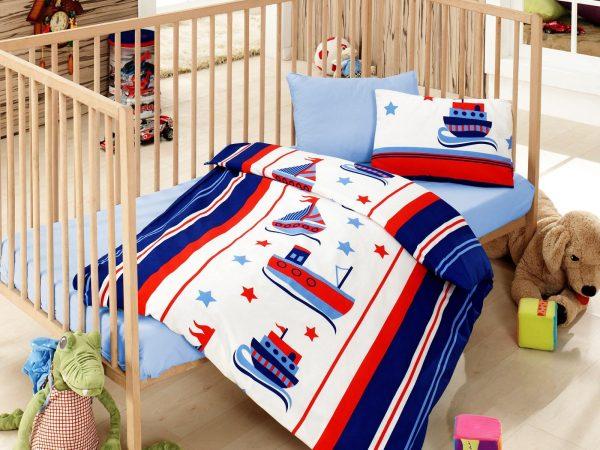 купить Детское постельное белье Cotton Box Denizci Mavi 100x150