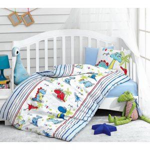 купить Детское постельное белье Cotton Box Dino Mavi 100x150