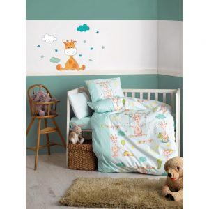 купить Детское постельное белье Cotton Box Zurafa Yesil 100x150