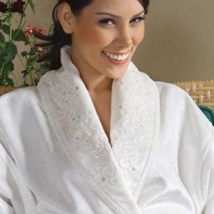 Женский халат с полотенцем Begonville Santis Cream S
