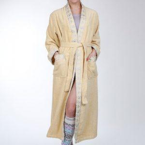 Женский халат Mariposa горчица кант: классик m007250
