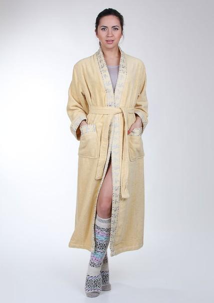 купить Женский халат Mariposa горчица кант: классик m007250