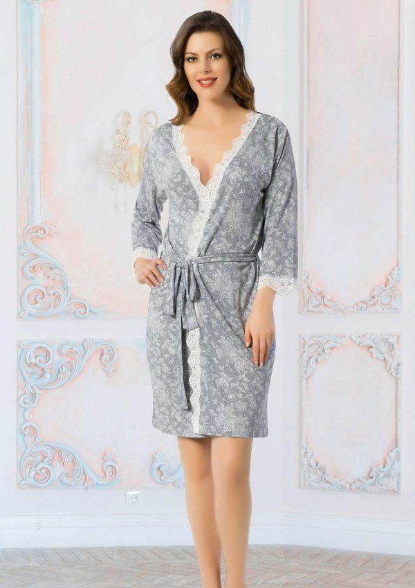 купить Женский халат Mariposa 3602 gri m014183