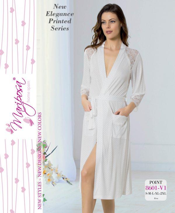 купить Женский халат Mariposa 8601 ekru m013750
