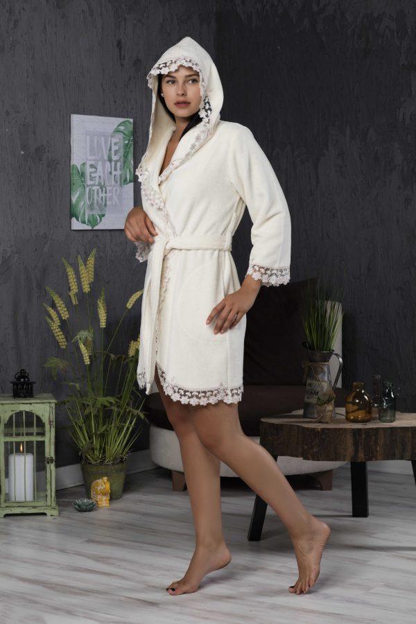 купить Женский халат Nusa ns 3800-1 крем m013341