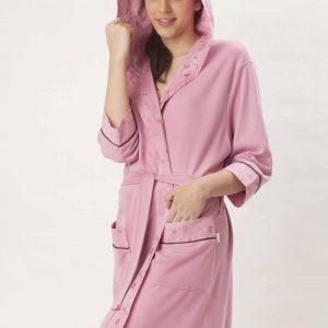купить Женский халат Nusa ns 8265 сиреневый m005011