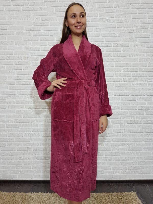 купить Женский халат Nusa ns 8535 баклажан m013602
