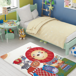 Ковер в детскую комнату Confetti – Lion King оранжевый 100×150