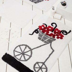 купить Коврик в ванную Chilai Home Alacati Red 60x100