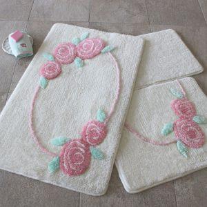 купить Коврик в ванную Chilai Home Rosalin Ecru 60x100