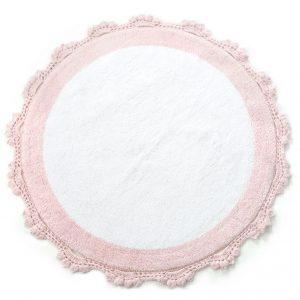 купить Коврик Irya - Doreen pembe-beyaz розовый 90 см. диаметр