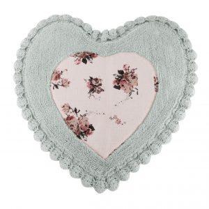 купить Коврик Irya - Essa Heart mavi голубой 70x70