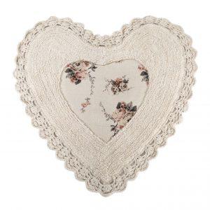 купить Коврик Irya - Essa Heart natural бежевый 70x70