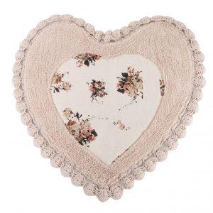 купить Коврик Irya - Essa Heart pembe розовый 70x70
