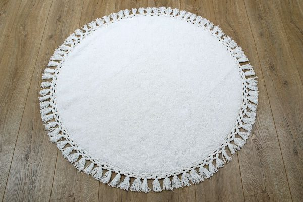 купить Коврик Irya - Lora ekru молочный 90 см. диаметр