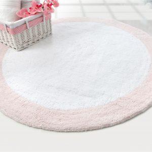 купить Коврик Irya - Tully beyaz-pembe розовый 90 см. диаметр