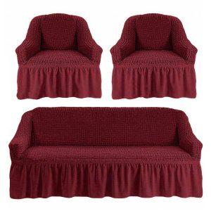 купить Комлект чехлов на диван и кресла Love you пурпурный